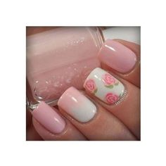 70 Ideas of French Manicure ❤ liked on Polyvore featuring beauty products, nail care and nails