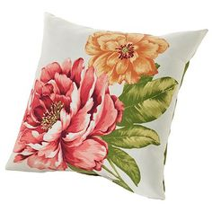 Croft and Barrow Floral Outdoor Decorative Pillow So want for our patio