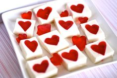 Another adorable St. Valentine's day dessert. Easier than it looks- you gotta love Jell-o!