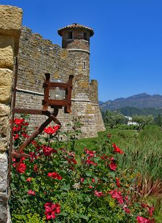 Castello di Amorosa, a winery and vineyard in Calistoga, Napa Valley, California by Andy New