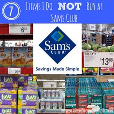Wholesale clubs offer great deals on some things, but not everything.  Here are 7 Items I Do NOT Buy at Sam's Club!  I've also included what I do buy there too.