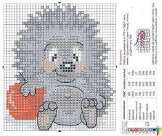 hedgehog cross stitch pattern - Google Search