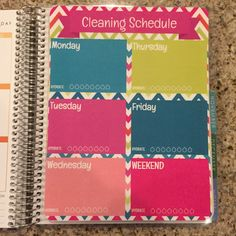 Cleaning Schedule Hydrate & To Do List Laminated Dashboard Insert