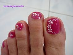 toe nail designs flowers - Google Search