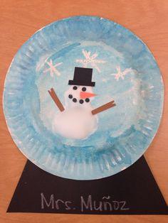Winter snowman craft-glue and shaving cream