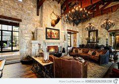 Eclectic Spanish Style Lake House - Image: Zbranek & Holt Custom Homes - #WesternHome