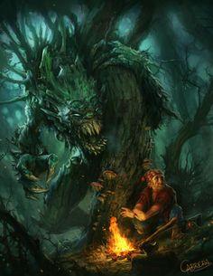 Hidebehind Creature by *artbycarlos