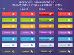 Slick Download Buttons (PSD)