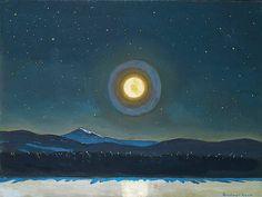 Rockwell, Kent , Moonlight in the Adirondacks, 1960. Oil on Panel