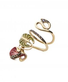 Large Gold Orchid Ring