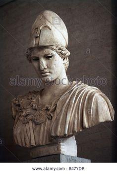 Athena, Pallas Athena, Greek goddess of war, daughter of Zeus, sculpture by Athena Greek Goddess, Daughter Of Zeus, Munich, Sculptures, War, Statue, Stock Photos, Rock, Classic
