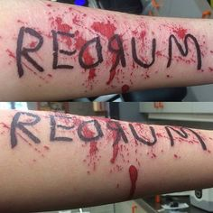 Redrum tattoo done by @helltothenope @peopletattoosweden