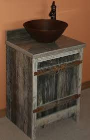 Image result for barnwood bathroom cabinets