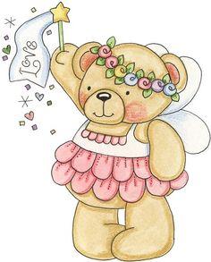 Imagen osos hadas para imprimir | Imagenes para imprimir.Dibujos para imprimir