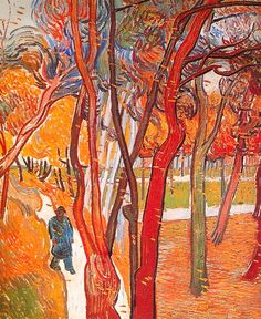 Vincent van Gogh. The Walk: Falling Leaves. Saint-Rémy, October 1889. Amsterdam, Van Gogh Museum (Vincent van Gogh Foundation).