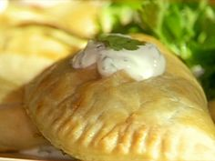 Spinach and Cheese Empanadas Recipe : Emeril Lagasse : will use the filling in this recipe with gluten free empanadas dough from glutenfreeonashoestring.