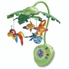Fisher Price Rainforest Peek A Boo Musical Mobile Crib Bed Nursery | eBay