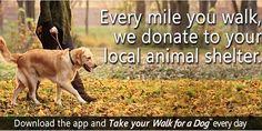 Amate #passeggiare con il vostro #cane e siete degli amanti degli animali?  Nasce un'#app su misura per voi a prova di #zampa! Potrete #sostenere chi si occupa degli #animali in difficoltà semplicemente portando a spasso il vostro cane! Bello vero?  Leggete qui:  http://www.greenme.it/tecno/cellulari/14804-app-raccogliere-fondi-camminare-cane