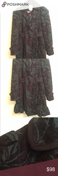 Anthropologie Elevenses Floral Pea Coat Adorable Pea Coat!!! EUC, well cared for. Worn only couple times. Love this coat but I have too many! Anthropologie Jackets & Coats Pea Coats