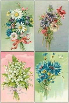 Vintage flowers printable