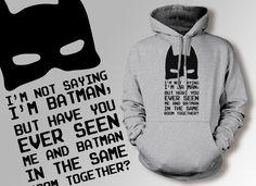 Funny Batman Hoodie Comic Book Hoodie Super Hero by IceCreamTees, $29.99