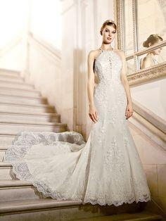 0c5c14f5e7 In love with this embellished halter neck mermaid  moonlightbridal wedding  dress. Bridal Dresses