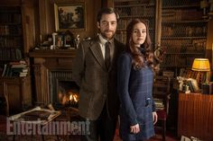 Two very important characters are set to debut on the second season finale of Outlander, and EW has snagged the first look! Meet Brianna Randall (Sophie Skelton) and Roger Wakefield (Richard Rankin), two of the most integral characters to the Outlander series behind Jamie (Sam Heughan) and Claire (Caitriona Balfe).