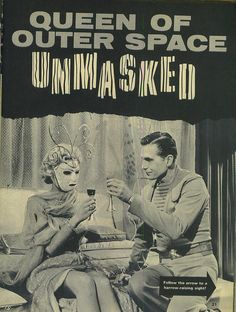 Queen Of Outer Space Unmasked from Monster World magazine