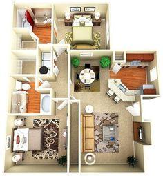 Добре розроблена 3d ідея дизайну будинку 134