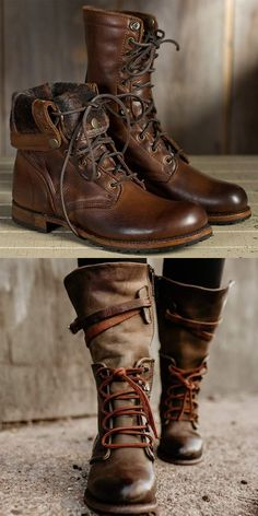 Vintage Women Lace-Up Side Zipper Faux Leather BootsYou can find Vintage leather and more on our website.Vintage Women Lace-Up Side Zipper Faux Leather Boots Fashion Models, Fashion Shoes, Mens Fashion, Fashion Clothes, Tennis Shoes Outfit, Dress Shoes, Shoe Boots, Bootie Boots, Shoe Bag