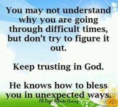 Keep trusting in God!