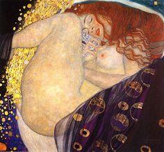 Klimt Kunstdruck Danae, 1907-08 - berühmte Bilder