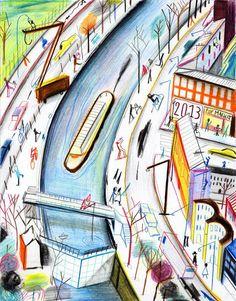 crayon couleur Yann Kebbi                                                                                                                                                                                 Plus