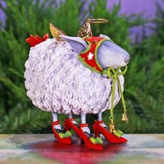 Blanche White Sheep Ornament