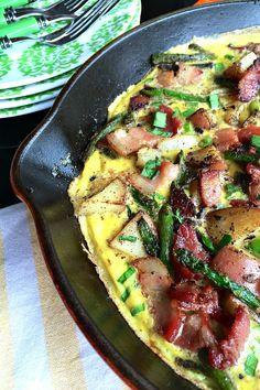 Bacon Asparagus Potato Frittata