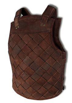 Lederrüstung Viking, braun XL