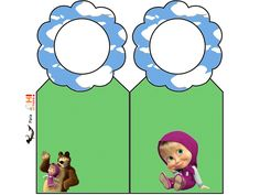 Oh My Fiesta! in english: Masha and the Bear: Free Party Printables.