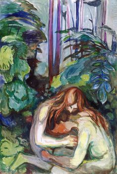 "Edvard Munch ""The Vampire in the forest"" 1916-18 Oil on canvas"