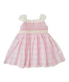 Pink Gingham Smocked Dress - Infant #zulily #zulilyfinds