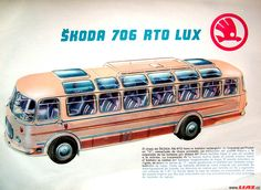 ♥•♥ Skoda-706 RTO LUX LIAZ ♥1 #Skoda_706_RTO_LUX Bus Art, Volkswagen Group, Busses, Old Cars, Cars And Motorcycles, Vintage Cars, Tractors, Porsche, Transportation