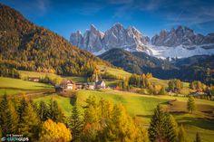 Autumn in the Dolomites - Val di Funes, Dolomites, Italy