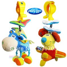 1pcs 2013 Playgro pull shock rats shock the donkey is optional Plush toys Baby toys for children  Free shipping $6.20