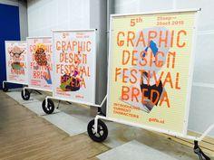 Graphic Design Festival Breda 2015, visuals by I LIKE BIRDS