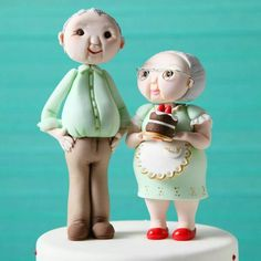 old couple wedding cake toppers torta 90 a 241 os abuelita tortas pasteles 17982
