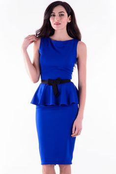 Rochie Roxana Albastru – Karla.Club Peplum Dress, Club, Dresses, Fashion, Gowns, Moda, La Mode, Peplum Dresses, Dress