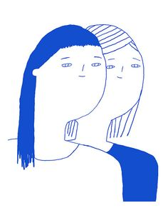 By Fanny Valentin_simple and clean line drawing, monocolour