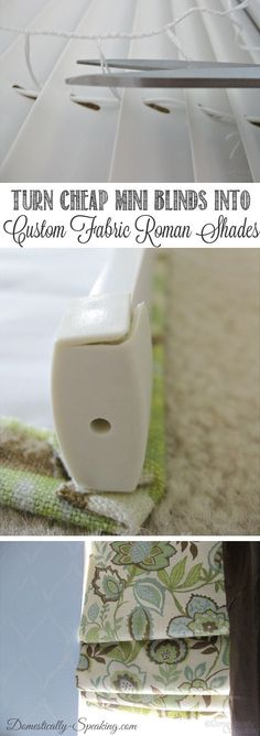 Turn your blinds into Roman shades. | 25 Cheap And Easy DIYs That Will Vastly Improve Your Home