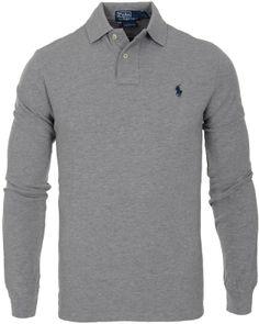 Polo Ralph Lauren Long Sleeve Custom Fit Piké Andover Heather 5859ce65e40