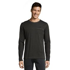 now on eboutic.ch - anthracite grey long sleeve shirt for men Grey Long Sleeve Shirt, Calvin Klein, Mens Tops, Clothes, Fashion, Fashion Styles, Outfits, Moda, Clothing