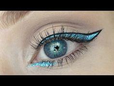 METALLIC BLUE GRAPHIC LINER - YouTube